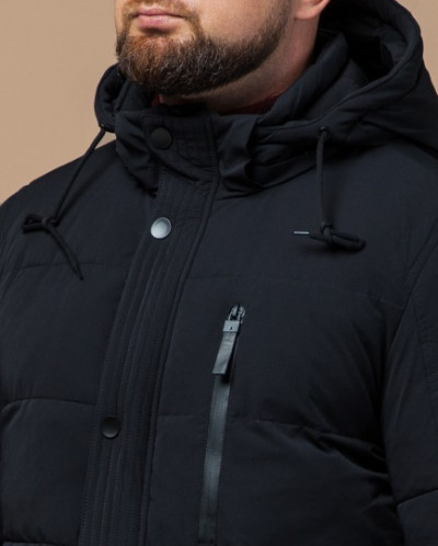 Модная куртка черная зимняя модель 15625
