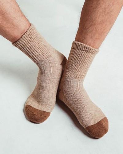 Носки из шерсти верблюда- светлые., Монголия