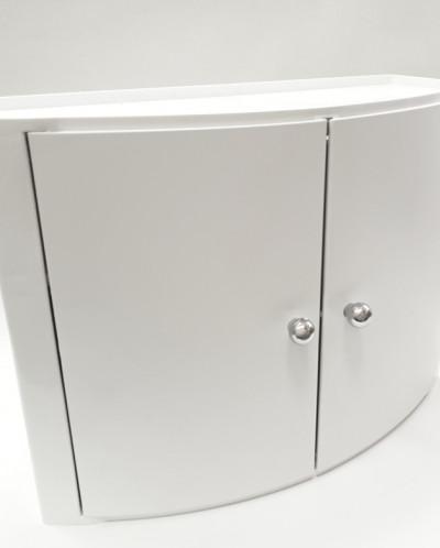 Серия 084 Настенный шкаф с дверцами (цвет: прозрачно-натурал