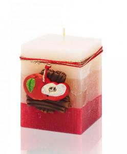 свеча Яблоко с корицей Блок 70х70х90