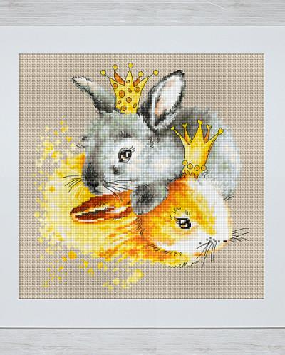 Luca-S Наборы для вышивания B2299 Кролики 20,5х21 см