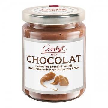 Молочный шоколадный крем с ирисками и какао, 250 гр.