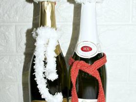 Н-р на бутылки, для украшения Новогоднего стола.