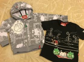 Reima толстовка и футболка серия Angry Birds 98р