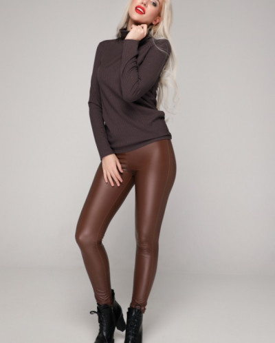 Блуза 235/1 шоколадный