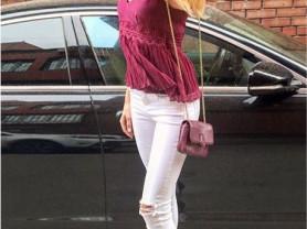 джинсы белый