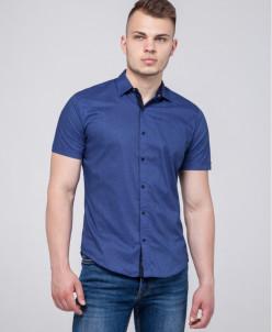 Синяя молодежная рубашка Semco