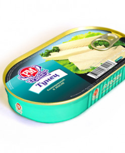 Тунец филе бланш. в масле 5шт (банки по 175 грамм)