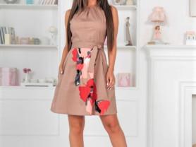 Женское платье Маргарет коричневое