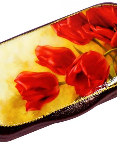 Вишня в шоколадной глазури в очечнике (ручная роспись) 40г