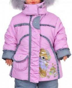 """верхняя одежда для девочки Зимняя модель""""Мишка Томми"""""""