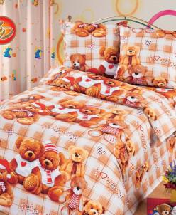 КПБ Бязь 125, Мишутки 1,5 спальный