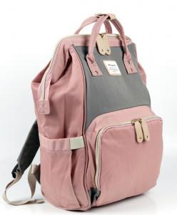 Женский текстильный рюкзак Picano 1816 Розовый/Серый