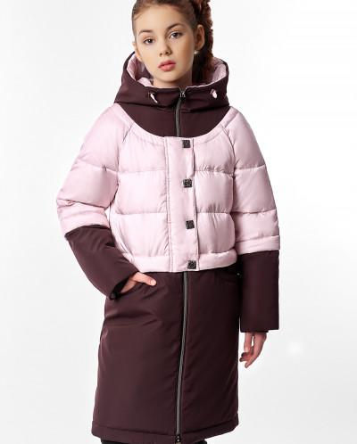 """Пальто """"Бриана"""" баклажановое"""