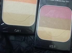 Shiseido шисейдо румяна сияние цвета трио тестеры