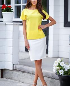 Блузка с манжетами цвет желтый (Б-28-7)