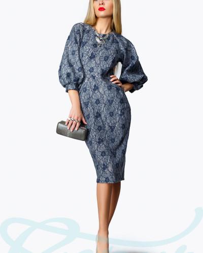 Платья с рукавами фонариками 2017