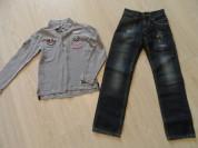 Фирмен джинсы,поло 7-10 л. почти новые.Цена за все