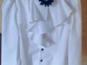Нарядная белая блузочка Борелли, размер 10л