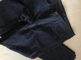 Вельветовые синие брюки Massimo Dutti