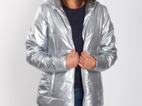 куртка из плащевой ткани с тонким утеплителем