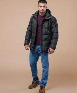 Дизайнерская молодежная темно-серая куртка модель 25460