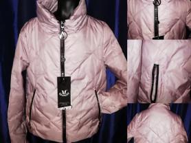 Куртка стильная цвет глянцевая пудра Новая