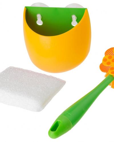 щетка для посуды +губка на подставке  LOLAFLOR