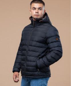 Стильная короткая куртка молодежная темно-синяя модель 25580