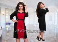 Платье №385-1 черный+красный