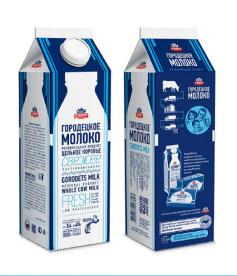 Молоко цельное 3,4% - 4%