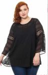 Блуза с топом Черный 18216