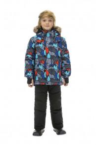 WP82203 GREY  Комбинезон зимний: куртка и брюки 86-100
