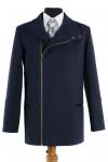 Пальто мужское демисезонное (Рост 182) Кашемир Navy