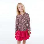Детская блузка в сердечках