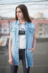 Женский джинсовый жилет 001-14