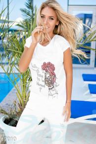 Стильная футболка-оверсайз Gepur