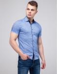 Голубая молодежная рубашка Semco фабричная модель 20433 1358