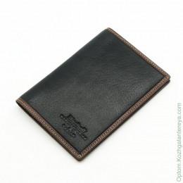 Мужская кожаная обложка для паспорта Dierhoff Д 8111-005/2