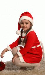 Детское платье Снегурочка с колпаком