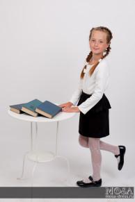 Школьная прямая юбка с баской