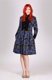 Пальто 008241 (синий)