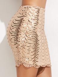 облегающая юбка c паетками