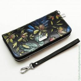Женский кожаный кошелек на молнии Sergio Valentini СВ 8121-2
