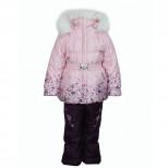 Комплект зимний для девочки А 129-15 RUSLAND (Россия)розовый