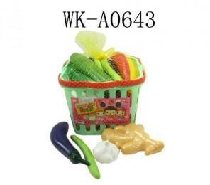 Набор овощей в корзине 17 предметов, в сетке, 19,5х18х14см