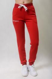 Штаны женские красные трехнитка с начесом