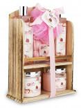 Spa Gift Basket With Lovely Pomegranate Fragrance
