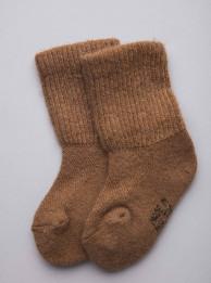 """Носки детские из шерсти """"Верблюд"""" рыжий, Монголия"""