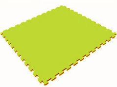 Мягкий пол универсальный 1000*1000*14 мм, лайм